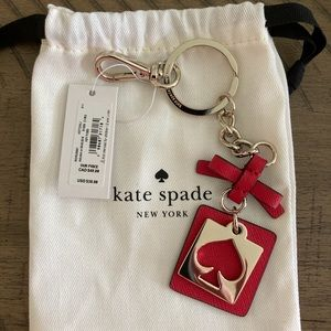 Kate Spade Leather Cut Out Spade Key FOB Chain